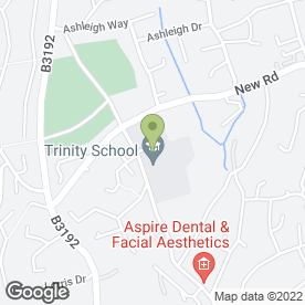 Map of Trinity School in Teignmouth, devon