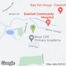 Map of Secret Garden Day Nursery in Dawlish, devon