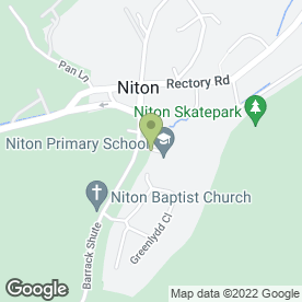 Map of Simon Woodford Joinery in Niton, Ventnor, isle of wight