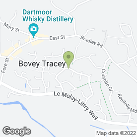 Map of Devon Beauty in Bovey Tracey, Newton Abbot, devon