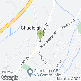 Map of Race Nights & Fun Casinos in Chudleigh, Newton Abbot, devon