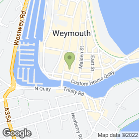 Map of Blondz in Weymouth, dorset