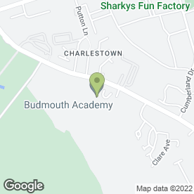 Map of Budmouth Technology College in Weymouth, dorset