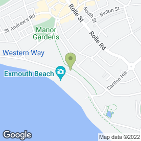 Map of The Octagon in Exmouth, devon