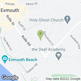 Map of Energexe Ltd in Exmouth, devon