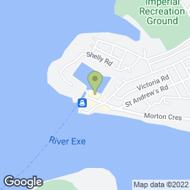 Map of Reflexetions in Exmouth, devon
