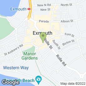 Map of The Heavitree in Exmouth, devon