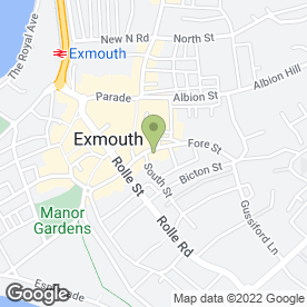 Map of Daff-o-Dil's in Exmouth, devon
