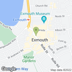 Map of Exmouth Kebab House in Exmouth, devon