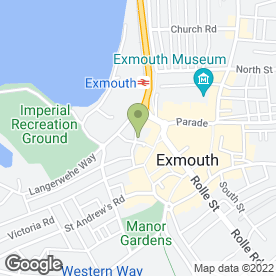 Map of The Q Club in Exmouth, devon
