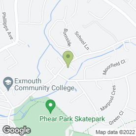 Map of CORNER HOUSE VETERINARY SURGERY in Exmouth, devon