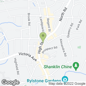 Map of Webb & Jenkins Estate Agents in Shanklin, isle of wight