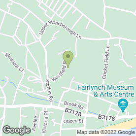 Map of Kirsten Goodesmith Bookkeeping Services in Budleigh Salterton, devon