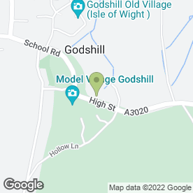 Map of The Hollies Tea Garden in Godshill, Ventnor, isle of wight