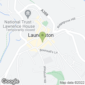 Map of HOCKRIDGE & STACEY in Launceston, cornwall