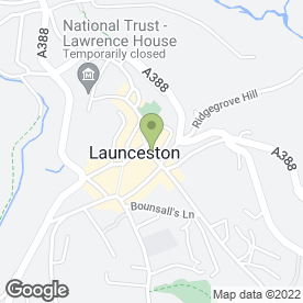 Map of Cuckoo's Nest Restaurant in Launceston, cornwall