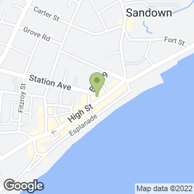Map of Serenity's in Sandown, isle of wight