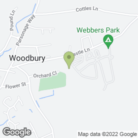 Map of Webbers Farm Caravan Park in Woodbury, Exeter, devon