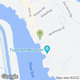 Map of Dtwo Creative Ltd in Topsham, Exeter, devon