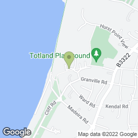 Map of D Liggins in Totland Bay, isle of wight