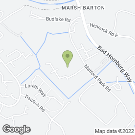 Map of Devon Waste Management in Marsh Barton Trading Estate, Exeter, devon