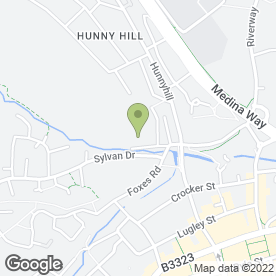 Map of Hunnyhill Aquatics in Newport, isle of wight