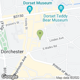 Map of Kim Weir Sports Therapist in Dorchester, dorset