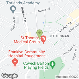 Map of St. Thomas Methodist Pre-School in Exeter, devon