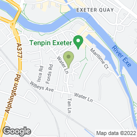 Map of STEVE CLARKE GARAGES in Exeter, devon