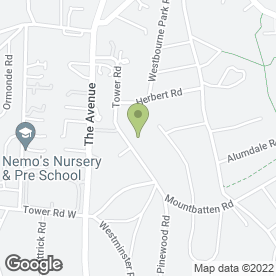 Map of Aranlaw House Care Home in Poole, dorset