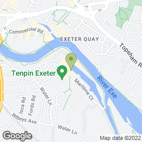 Map of River & Canal Department of Exeter City Council in Exeter, devon