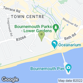 Map of Bournemouth International Centre in Bournemouth, dorset