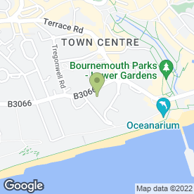 Map of BOURNEMOUTH INTERNATIONAL HOTEL in Bournemouth, dorset