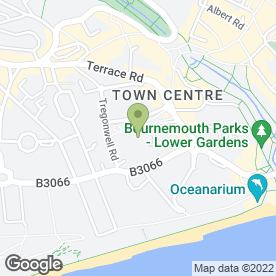 Map of Valentino in Bournemouth, dorset