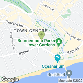 Map of Royal Exeter Hotel in Bournemouth, dorset