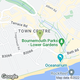 Map of Top Wok (Bournemouth) in Bournemouth, dorset