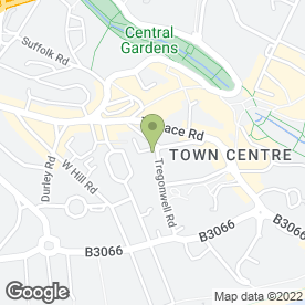 Map of Blue Palms in Bournemouth, dorset