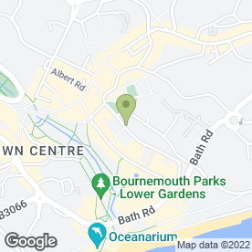 Map of Allan & Bath (Bournemouth) in Bournemouth, dorset