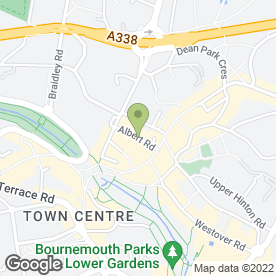 Map of Palmair in Bournemouth, dorset