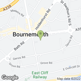 Map of Flaunt Hair & Beauty in Bournemouth, dorset