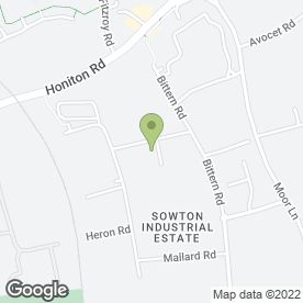 Map of Safecar Security Services Ltd in Exeter, devon