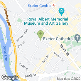 Map of Hub in Exeter, devon