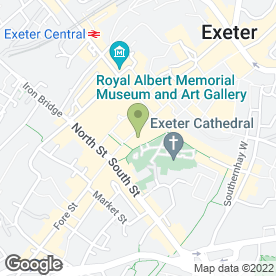 Map of Santander in Exeter, devon