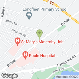 Map of The Adam Practice in Poole, dorset