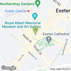 Map of Shoe Zone in Exeter, devon