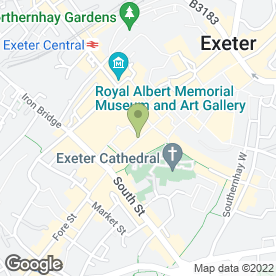 Map of Popes Solicitors in Exeter, devon