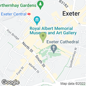 Map of Ridgeways Shoes in EXETER, devon