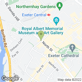 Map of Cafe Boulevard in EXETER, devon