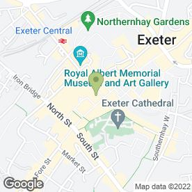 Map of Marks & Spencer plc in Exeter, devon