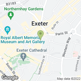 Map of All Saints Retail Ltd in Exeter, devon